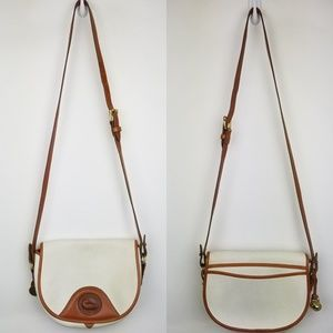 VTG AWL Dooney Bourke saddle flap crossbody bag